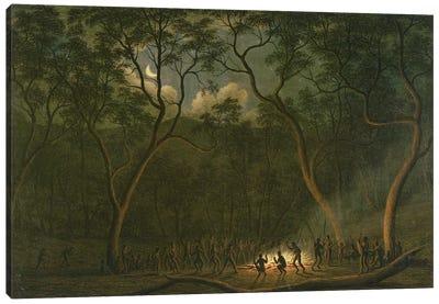 Aboriginal Coroboree in Van Diemen's Land  Canvas Art Print