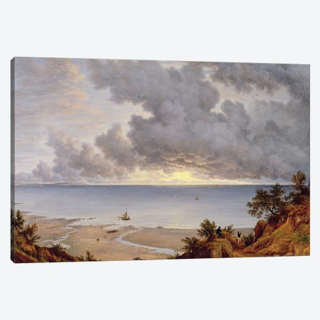View from Shanklin, Isle of Wight, c.1827  Canvas Print #BMN10715} by John Glover Canvas Artwork