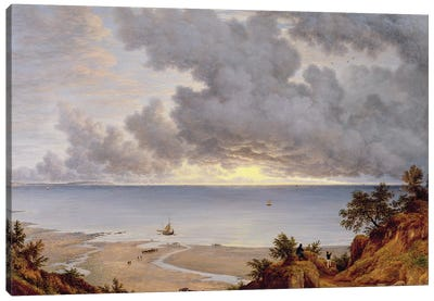 View from Shanklin, Isle of Wight, c.1827  Canvas Art Print