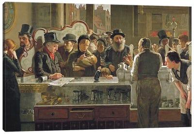 The Public Bar, 1883  Canvas Art Print