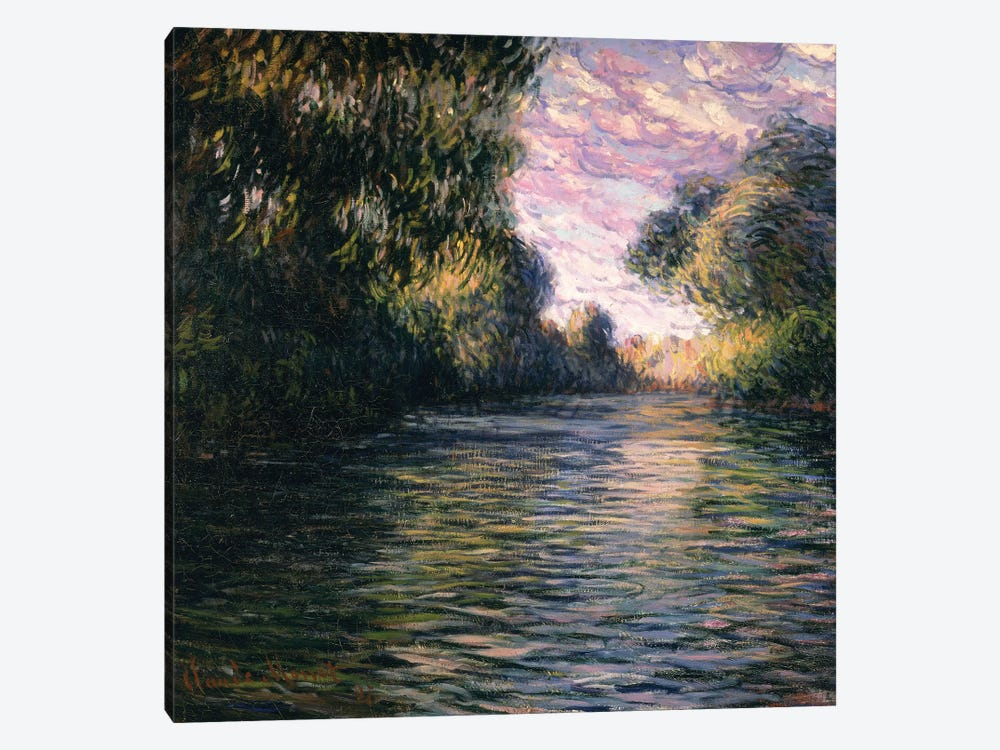 Morning on the Seine, 1897 by Claude Monet 1-piece Canvas Art