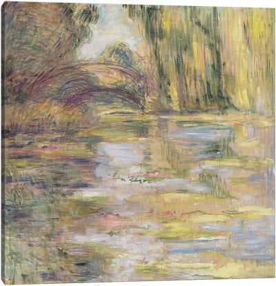 Waterlily Pond: The Bridge Canvas Print #BMN1073
