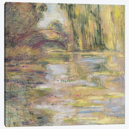 Waterlily Pond: The Bridge 3-Piece Canvas #BMN1073} by Claude Monet Canvas Art Print