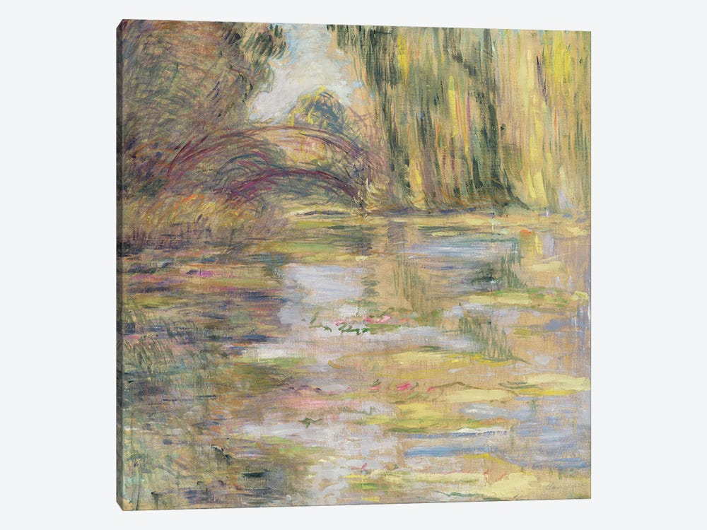 Waterlily Pond: The Bridge by Claude Monet 1-piece Canvas Art Print