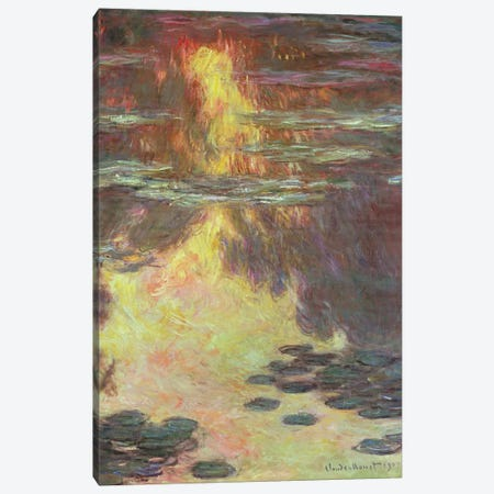 Waterlilies, 1907  Canvas Print #BMN1074} by Claude Monet Canvas Artwork