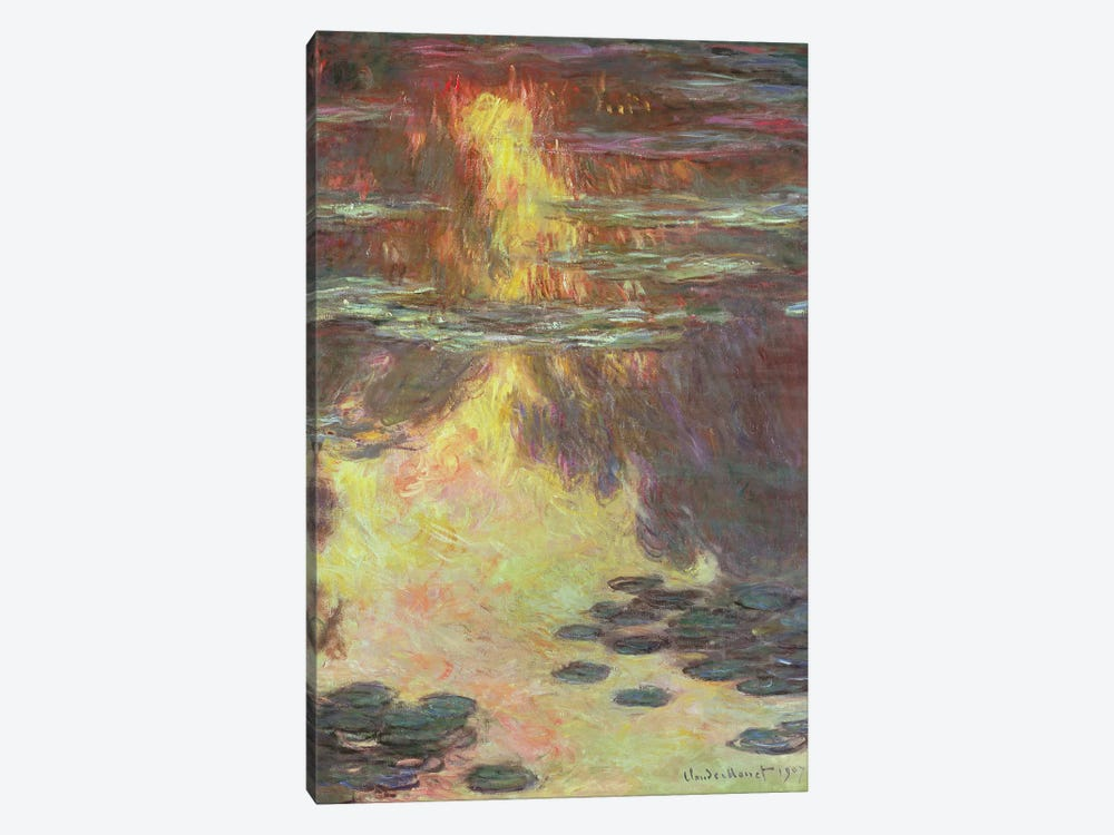 Waterlilies, 1907  by Claude Monet 1-piece Canvas Wall Art