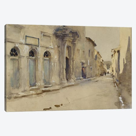 A Street in Spain  Canvas Print #BMN10788} by John Singer Sargent Canvas Artwork