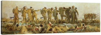 Gassed, an oil study, 1918-19  Canvas Art Print