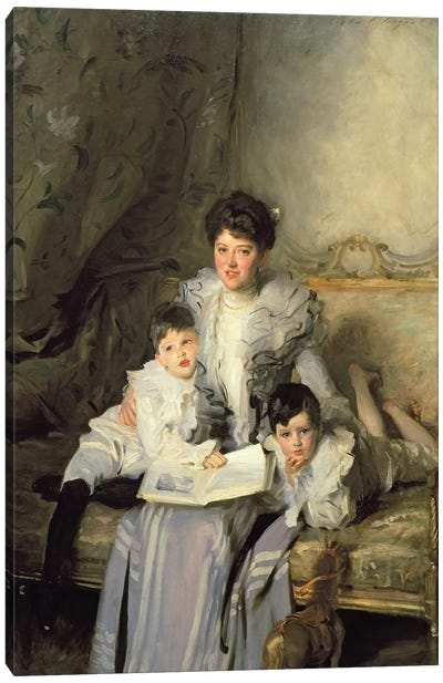 Mrs Knowles and her Children, 1902  Canvas Art Print