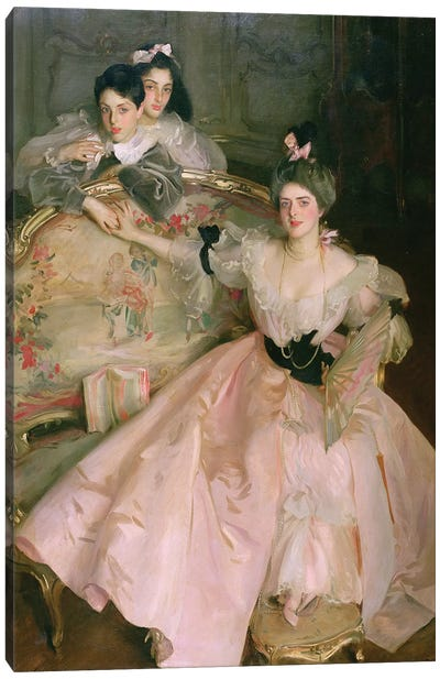 Mrs. Carl Meyer, later Lady Meyer, and her two Children, 1896 Canvas Art Print