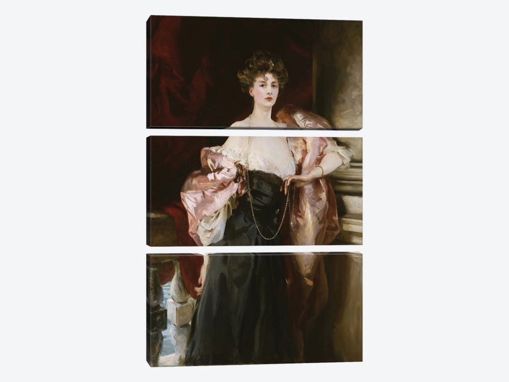 Portrait of Lady Helen Vincent, Viscountess D'Abernon, 1904  by John Singer Sargent 3-piece Canvas Print