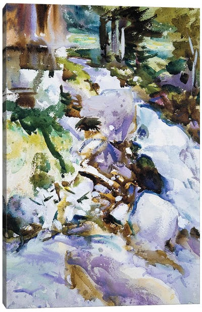 Rushing Brook, c.1904-11  Canvas Art Print