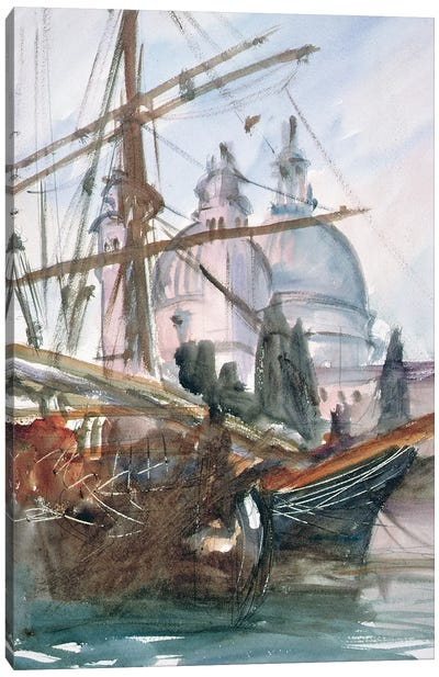 Santa Maria della Salute, Venice  Canvas Art Print