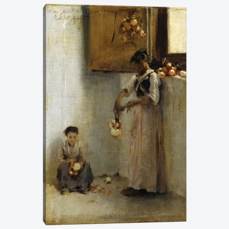 Stringing Onions, c.1882  Canvas Print #BMN10807} by John Singer Sargent Canvas Wall Art