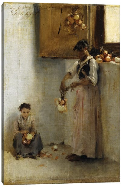 Stringing Onions, c.1882  Canvas Art Print