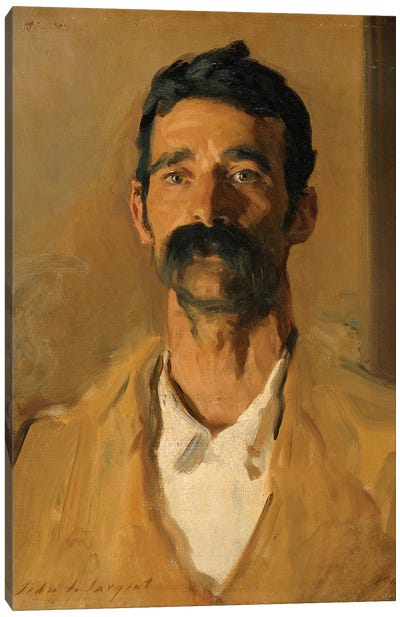 Study of a Sicilian peasant, 1907  Canvas Art Print