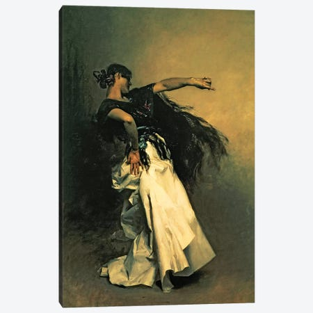 The Spanish Dancer, study for 'El Jaleo', 1882  Canvas Print #BMN10812} by John Singer Sargent Canvas Artwork