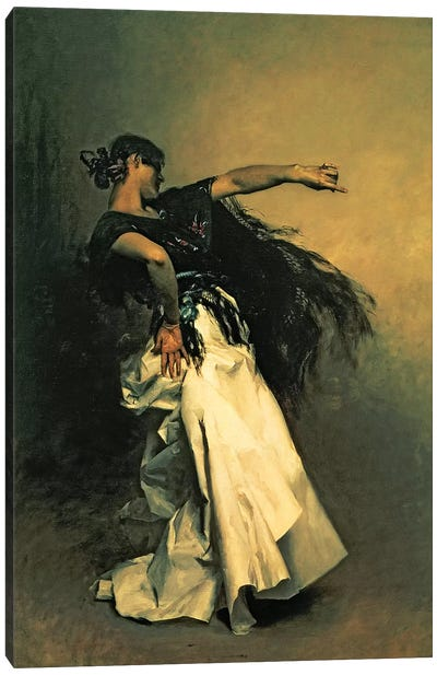 The Spanish Dancer, study for 'El Jaleo', 1882  Canvas Art Print