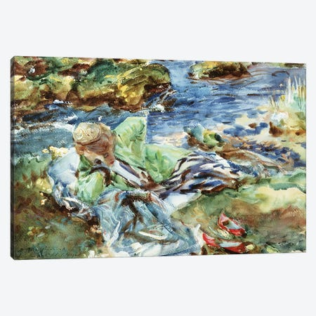 Turkish Woman by a Stream Canvas Print #BMN10814} by John Singer Sargent Art Print