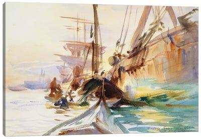 Unloading Boats in Venice, 1904  Canvas Art Print