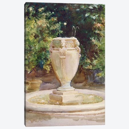 Vase Fountain, Pocantico  Canvas Print #BMN10818} by John Singer Sargent Canvas Art