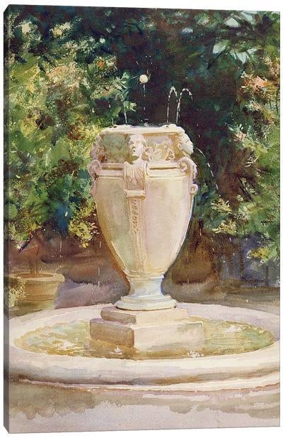 Vase Fountain, Pocantico  Canvas Art Print