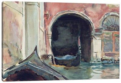 Venetian Canal  Canvas Art Print