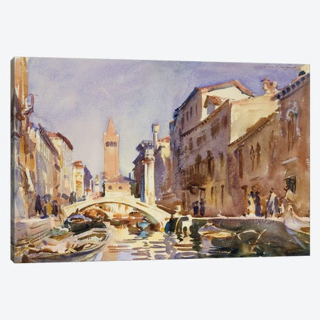 Venetian Canal, 1913  Canvas Print #BMN10821} by John Singer Sargent Canvas Art Print