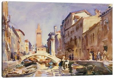 Venetian Canal, 1913  Canvas Art Print