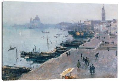 Venice in Grey Weather  Canvas Art Print