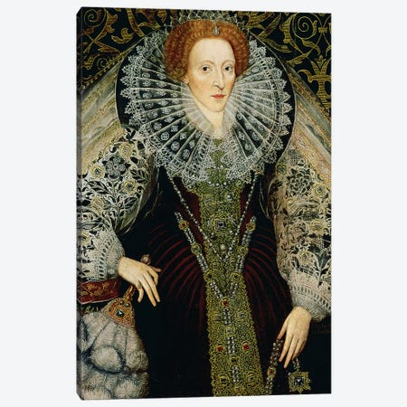 Queen Elizabeth I, c.1585-90  Canvas Print #BMN10824} by John The Younger Bettes Canvas Wall Art