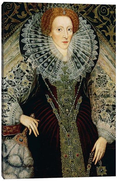Queen Elizabeth I, c.1585-90  Canvas Art Print