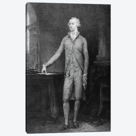 Alexander Hamilton, after the painting of 1792  Canvas Print #BMN10826} by John Trumbull Canvas Art