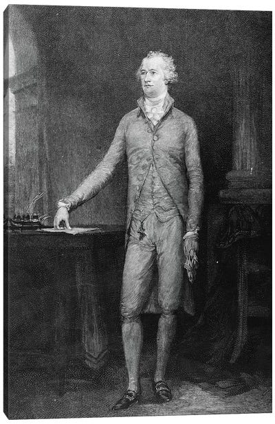 Alexander Hamilton, after the painting of 1792  Canvas Art Print