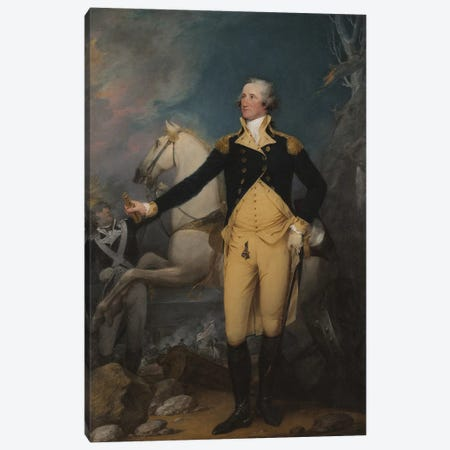 General George Washington at Trenton, 1792  Canvas Print #BMN10828} by John Trumbull Canvas Print