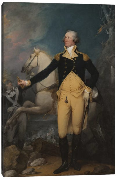 General George Washington at Trenton, 1792  Canvas Art Print