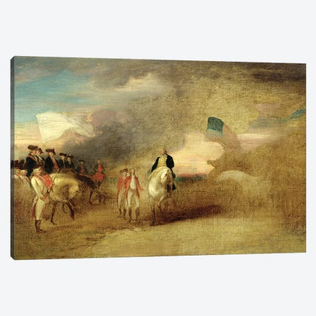 Surrender of Cornwallis at Yorktown, 1787  Canvas Print #BMN10829} by John Trumbull Canvas Print