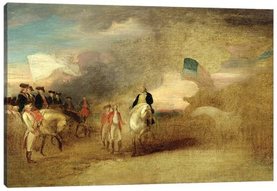 Surrender of Cornwallis at Yorktown, 1787  Canvas Art Print