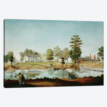The Olivier Plantation, 1861  Canvas Print #BMN1082} by Adrien Persac Canvas Art
