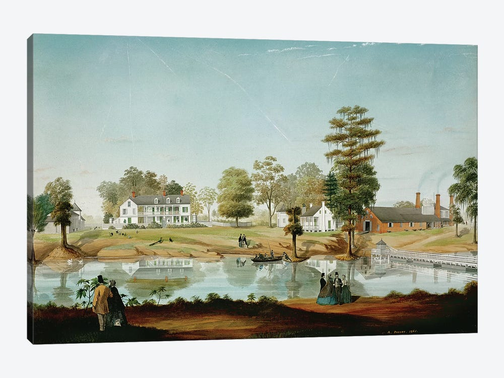 The Olivier Plantation, 1861  by Adrien Persac 1-piece Canvas Art Print