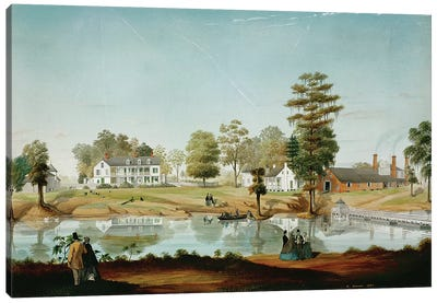 The Olivier Plantation, 1861  Canvas Art Print