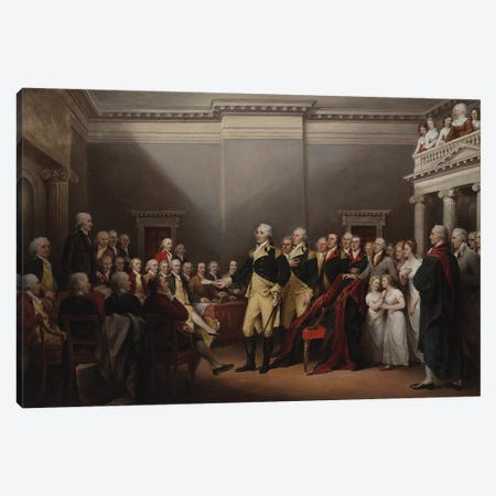 The Resignation of George Washington on 23rd December 1783, c.1822  Canvas Print #BMN10830} by John Trumbull Canvas Artwork