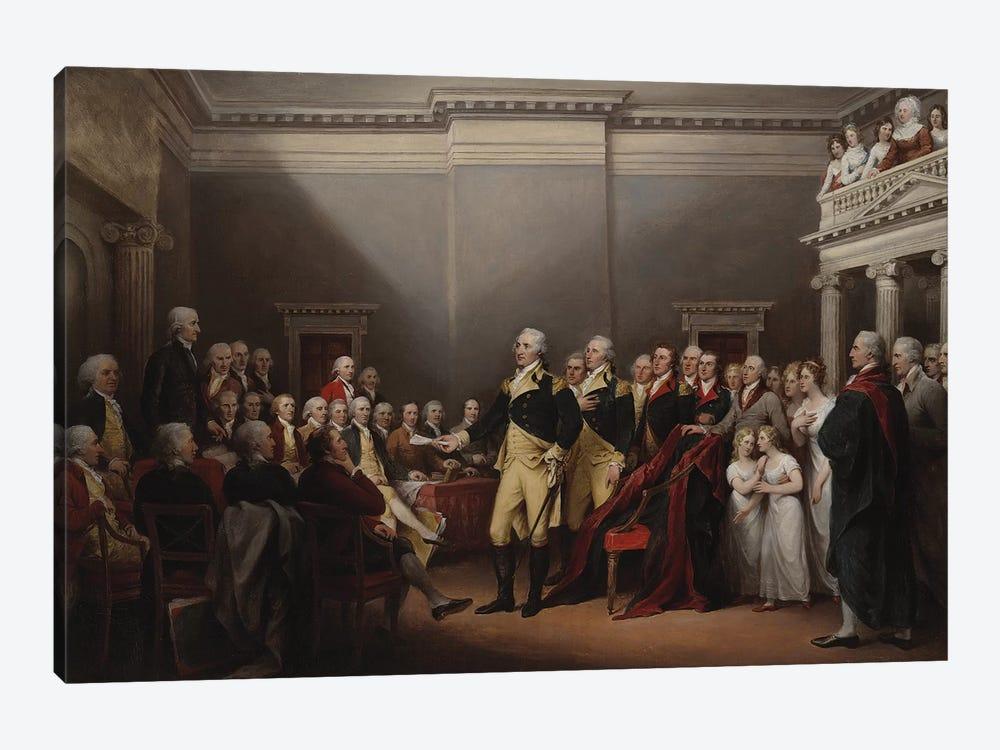 The Resignation of George Washington on 23rd December 1783, c.1822  by John Trumbull 1-piece Canvas Art