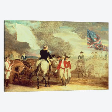 The Surrender of Cornwallis at Yorktown, 1787  Canvas Print #BMN10831} by John Trumbull Canvas Artwork
