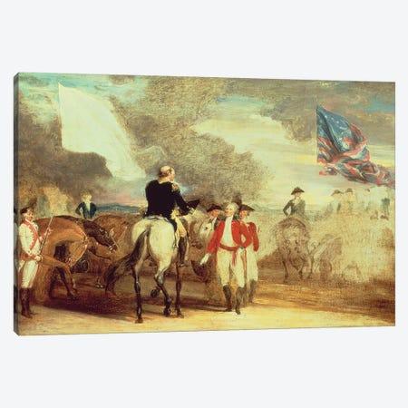 The Surrender of Cornwallis at Yorktown, 1787  Canvas Print #BMN10831} by John Trumbull Canvas Artwork