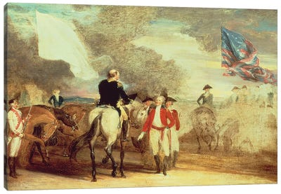 The Surrender of Cornwallis at Yorktown, 1787  Canvas Art Print