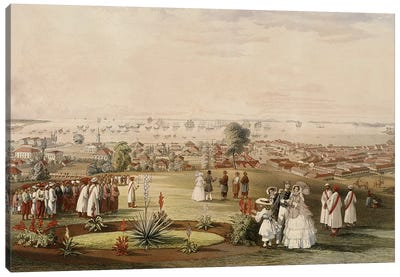View of Singapore from Fort Canning, 1846  Canvas Art Print