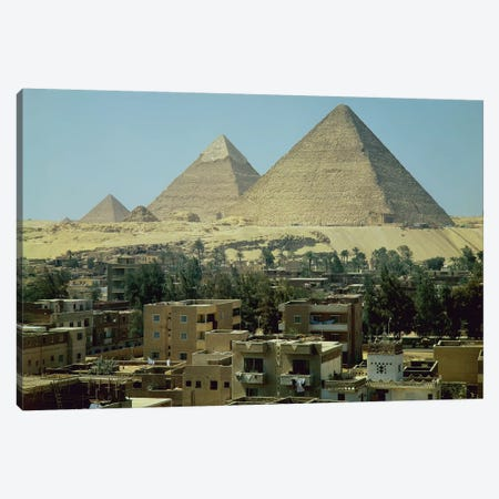 The Pyramids of Giza, c.2589-30 BC, Old Kingdom  Canvas Print #BMN1083} by Egyptian 4th Dynasty Canvas Wall Art