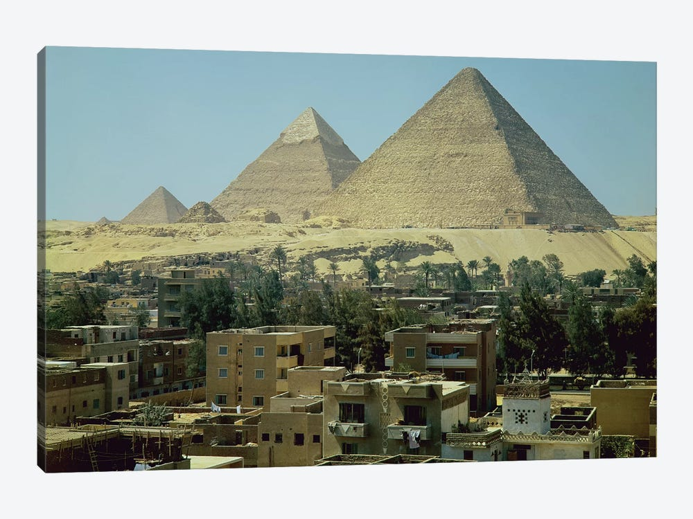 The Pyramids of Giza, c.2589-30 BC, Old Kingdom  by Egyptian 4th Dynasty 1-piece Canvas Artwork