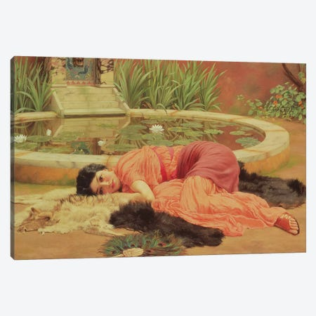Dolce Far Niente, 1904  Canvas Print #BMN10840} by John William Godward Canvas Art Print